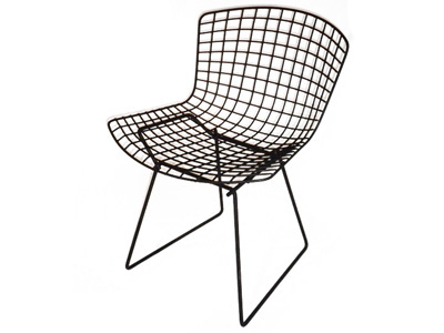 Merveilleux Black Wire Chair